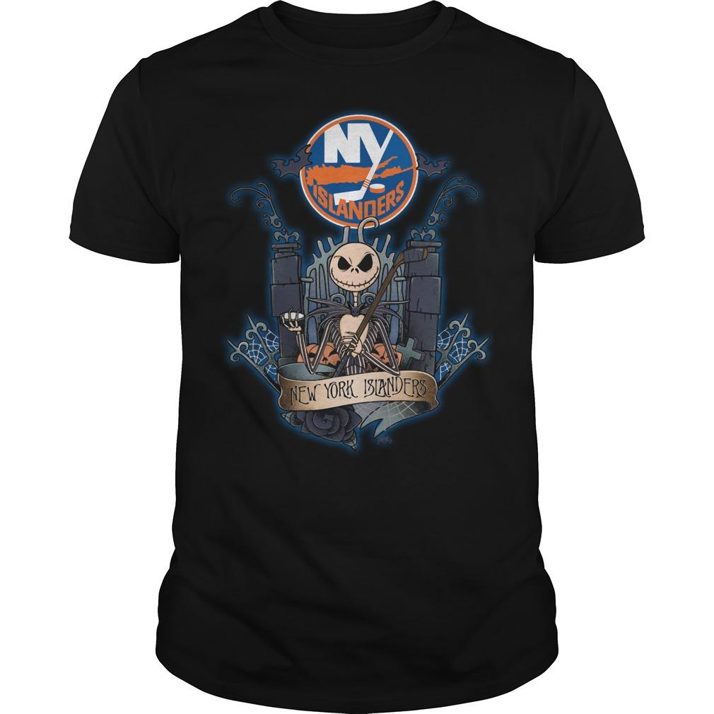 New York Islanders Jack Skellington this is halloween NHL shirt