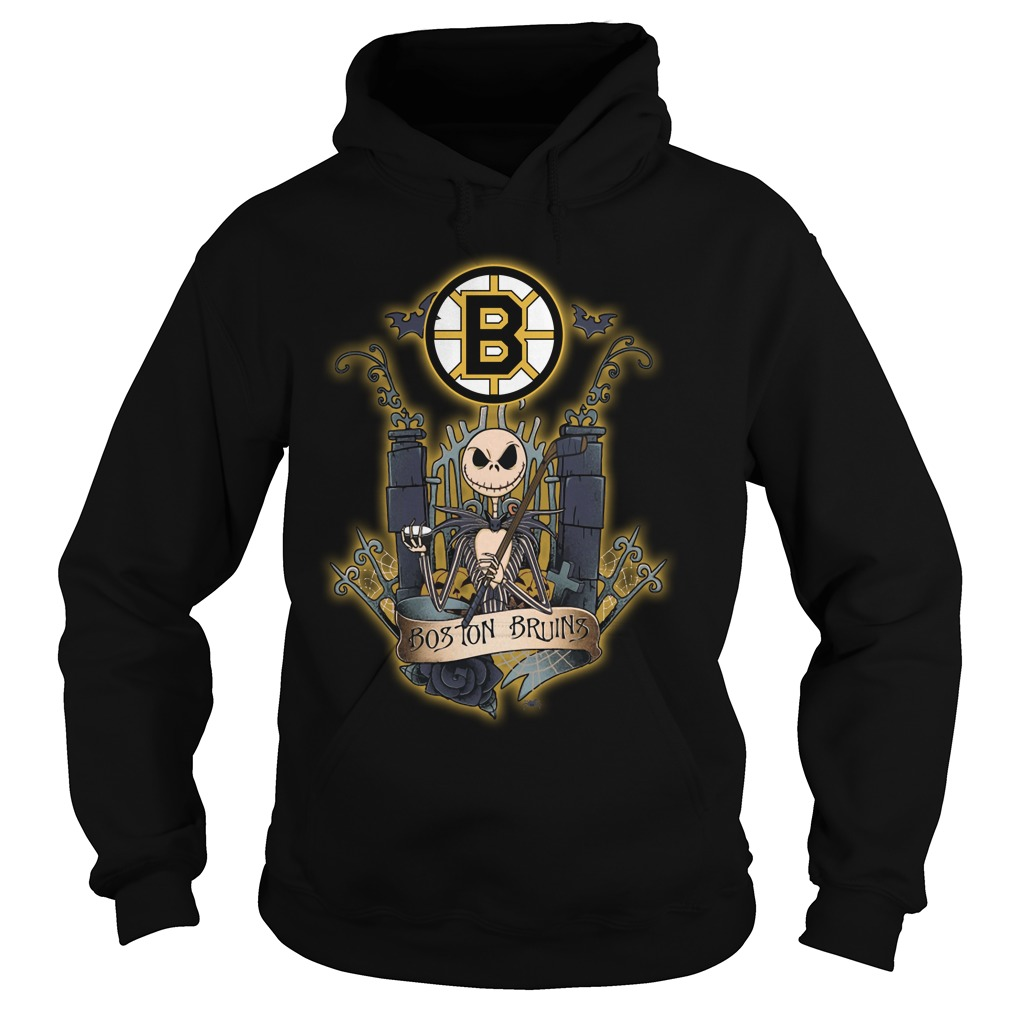 Boston Bruins Jack Skellington this is Halloween NHL hoodie