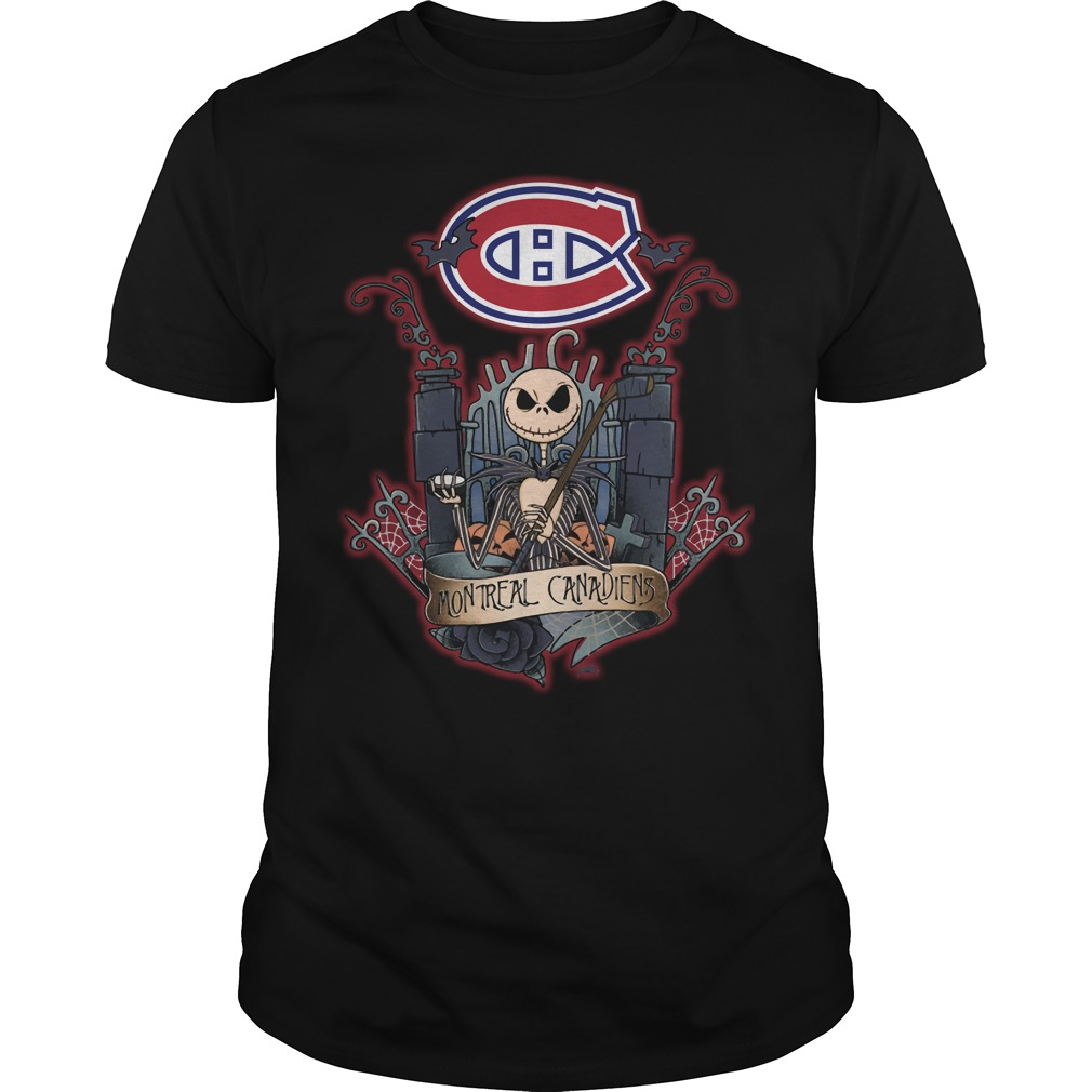 Montreal Canadiens Jack Skellington this is halloween NHL shirt