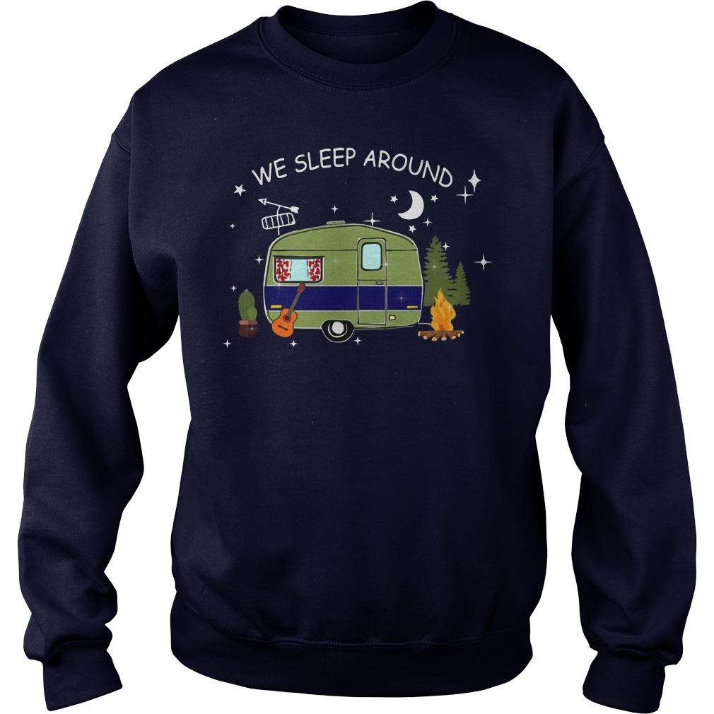 Camping we sleep around Sweater
