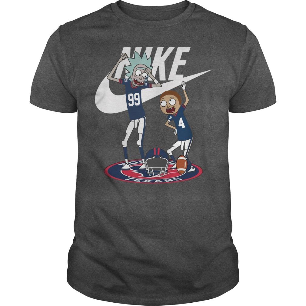 Nike Rick and Morty Broncos Texans Guys shirt