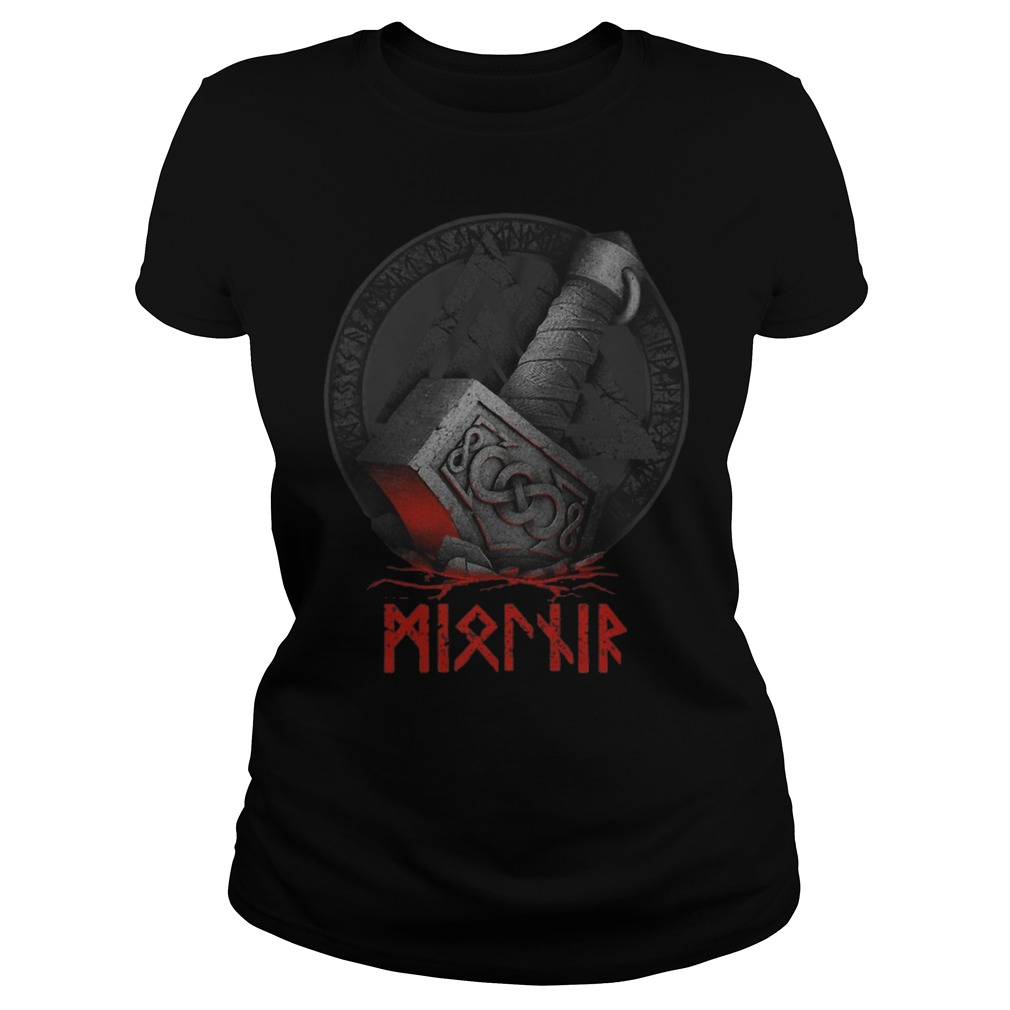 Raven's Mjolnir Viking Ladies Shirt