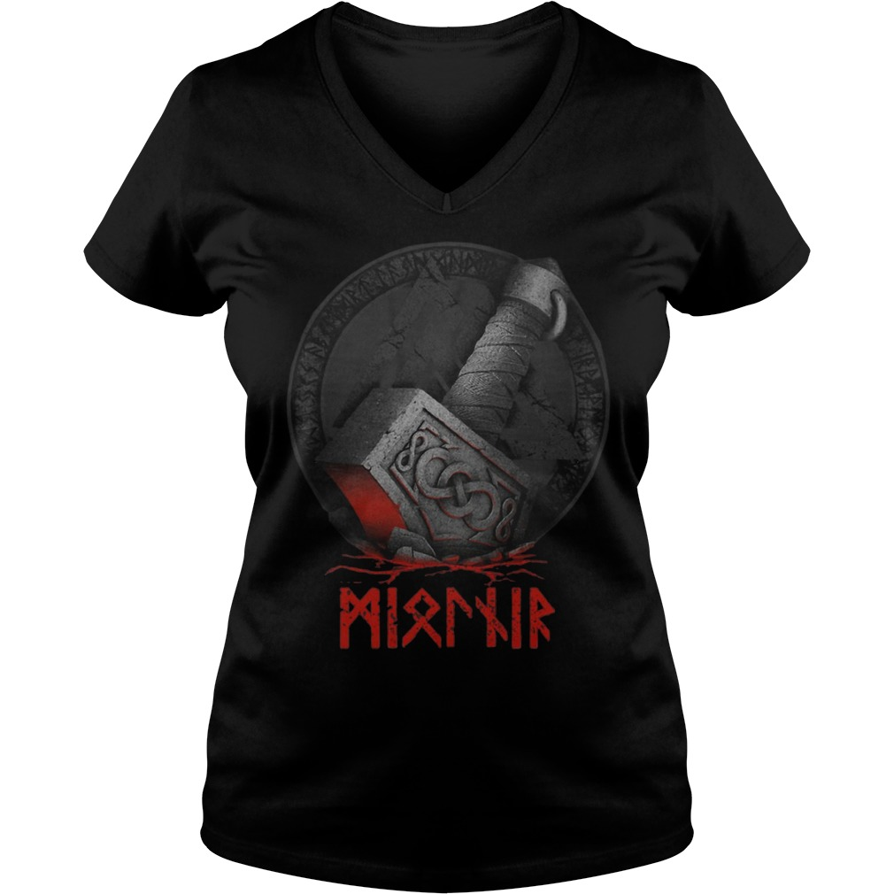 Raven's Mjolnir Viking Ladies v neck