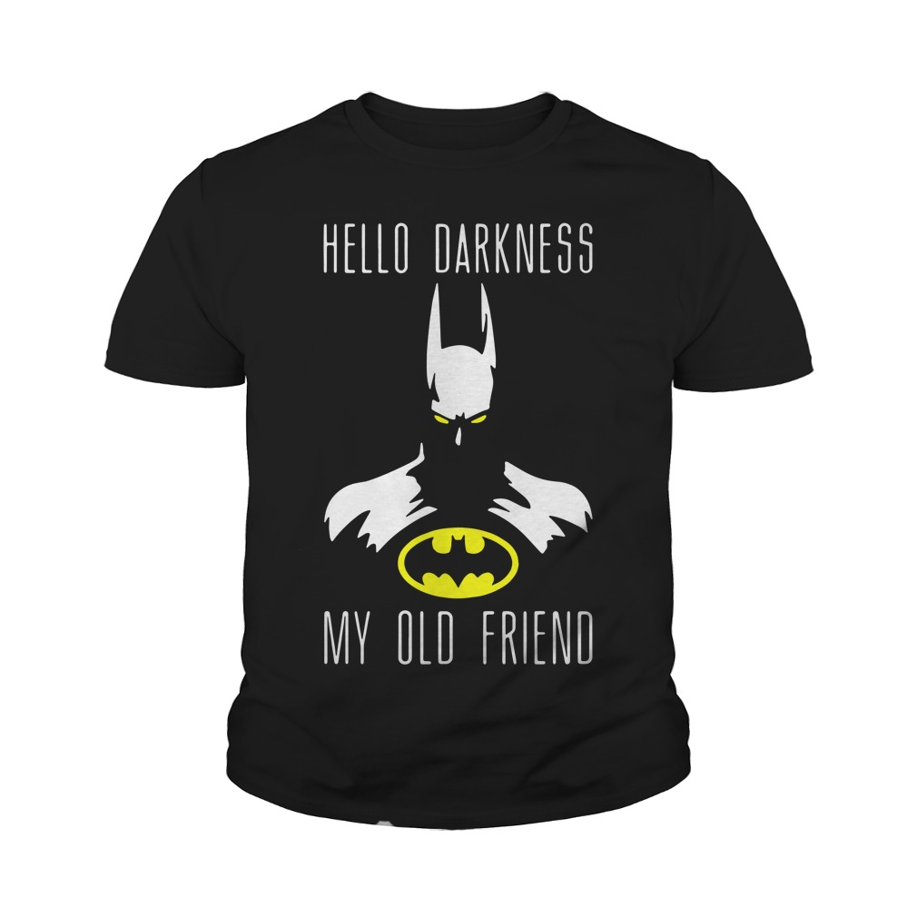 Batman Hello Darkness My Old Friend Youth Shirt