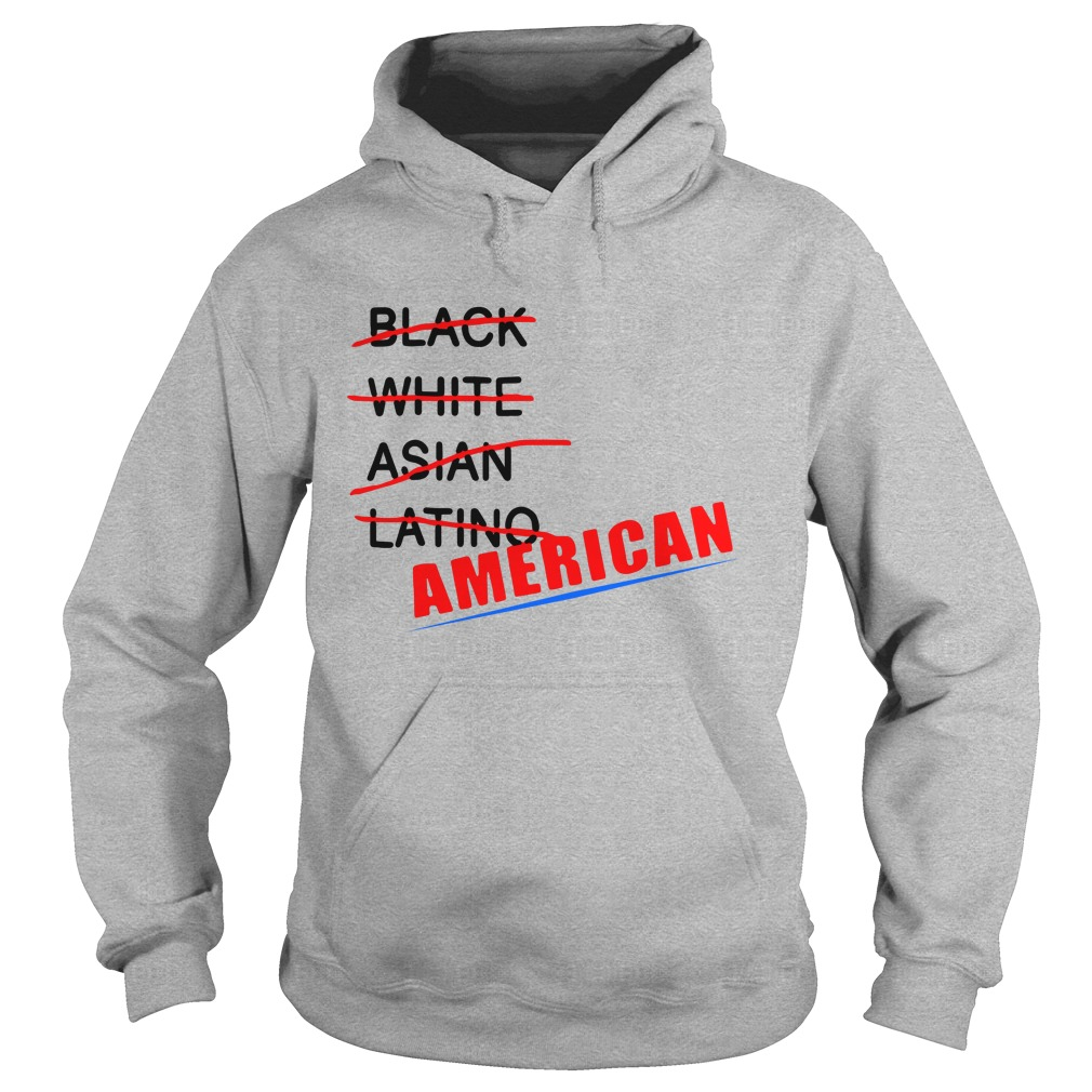 Black White Asian Latino American Hoodie