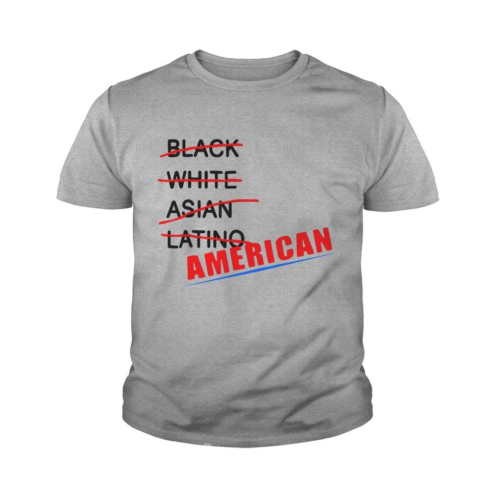 Black White Asian Latino American Youth Shirt