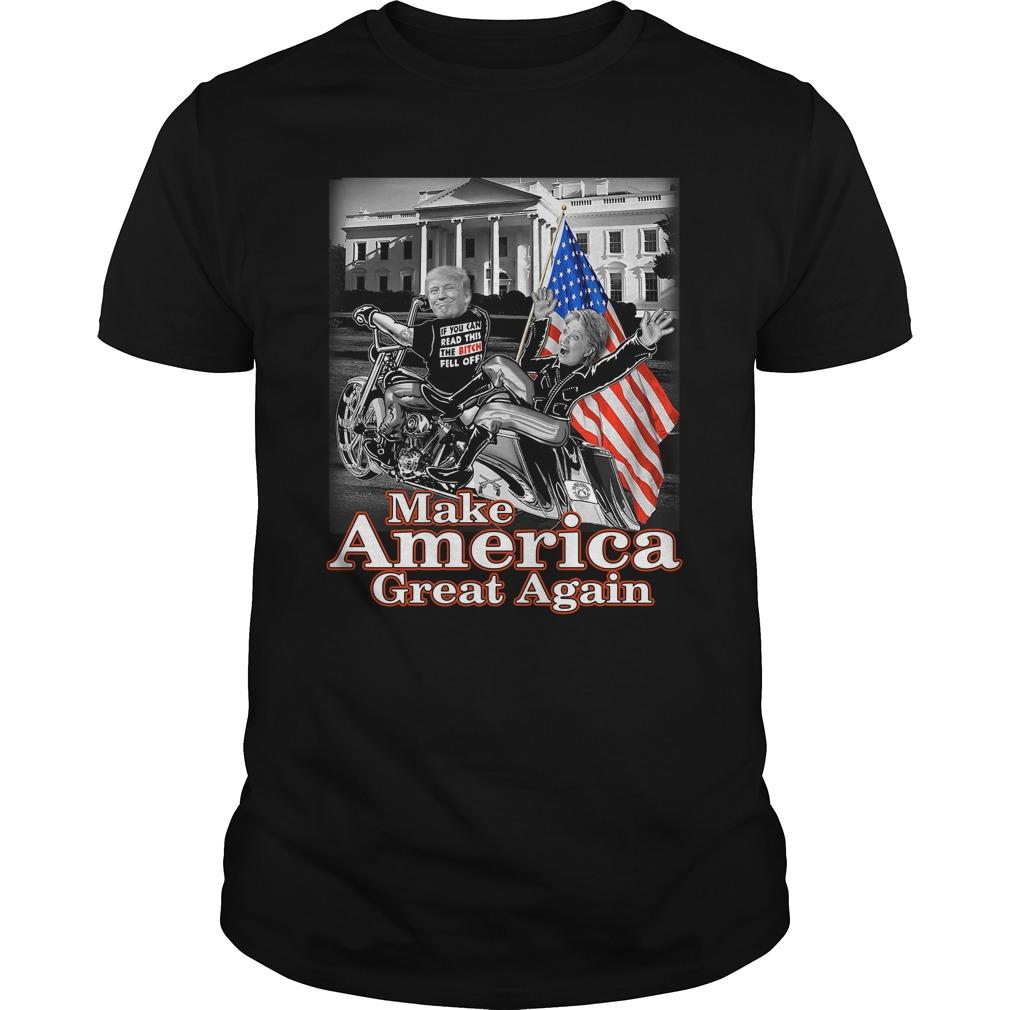 Donald Trump Make America Great Again Hillary Clinton Guys Shirt