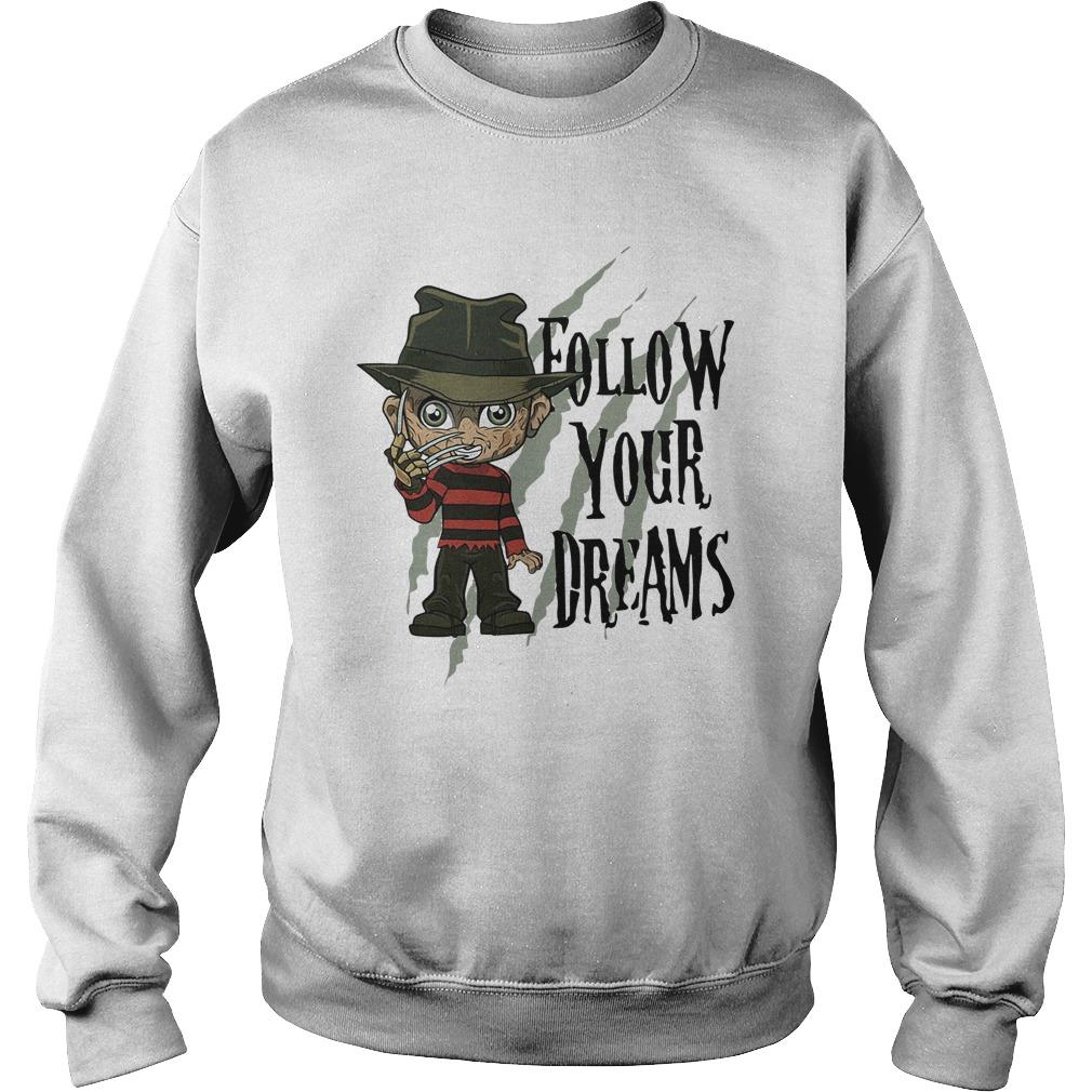 Freddy Krueger Follow Your Dreams Sweater