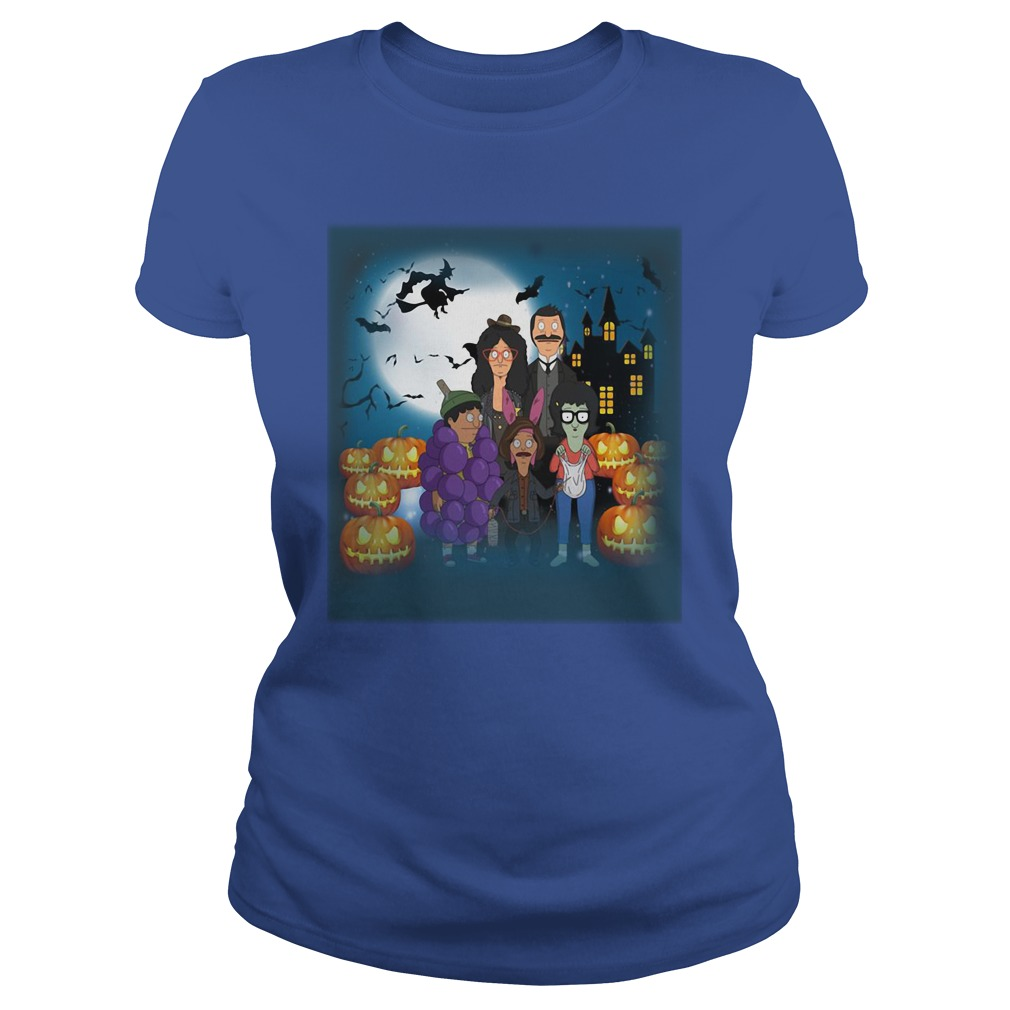 Halloween Behind Bob's Burgers Ladies Shirt