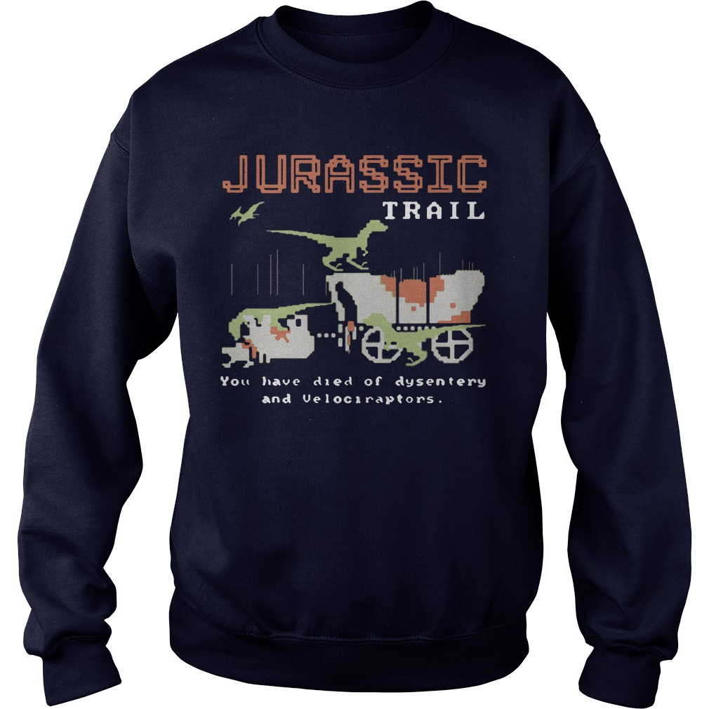 Jurassic trail you have died of dysentery and velociraptors sweater