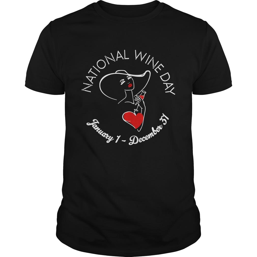 National wine day january 1 december 51 Guys Shirt