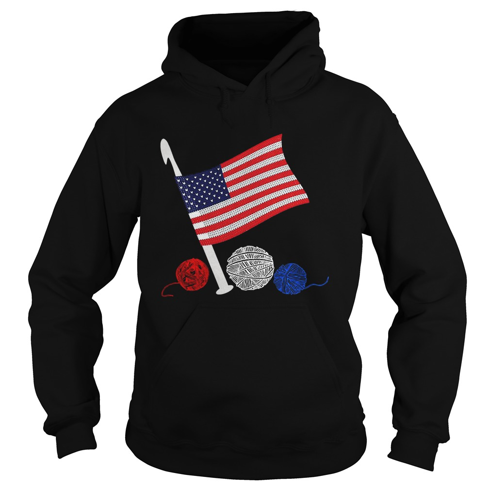 Official Crochet Flag America Hoodie