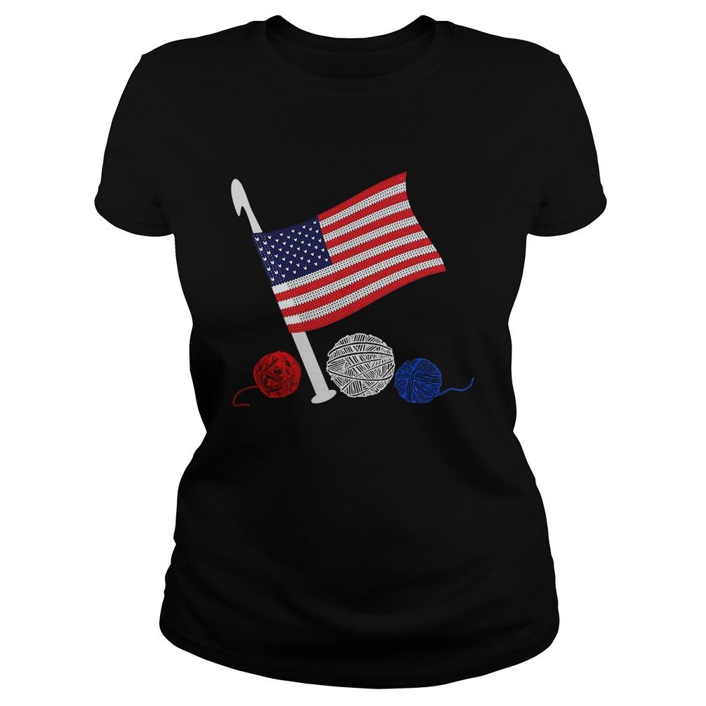 Official Crochet Flag America Ladies shirt