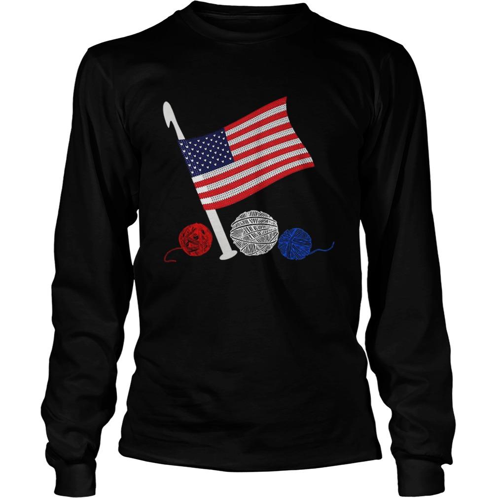 Official Crochet Flag America Longsleeve shirt
