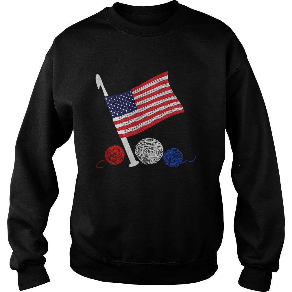 Official Crochet Flag America Sweater