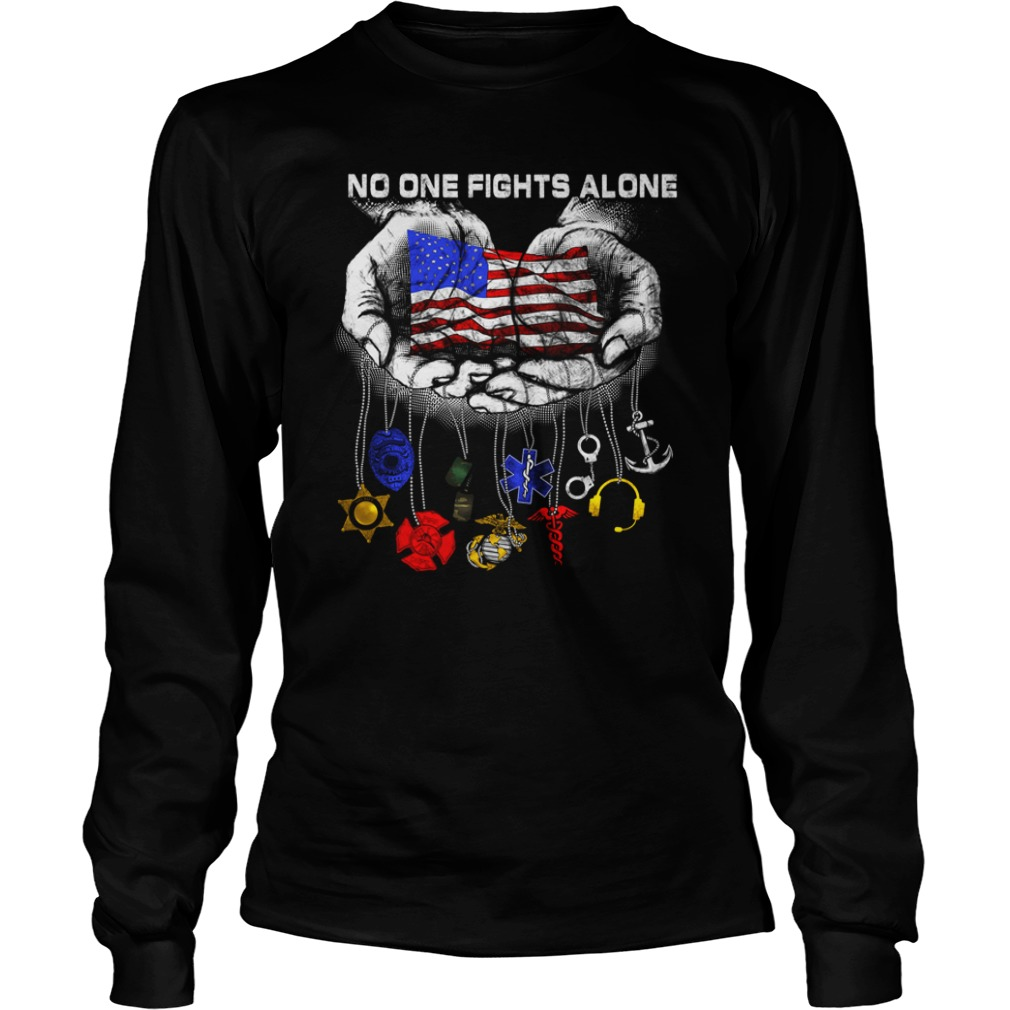Official No one fights alone longsleeve shirt