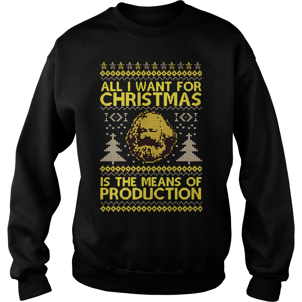 All I want for christmas is the means of production sweater