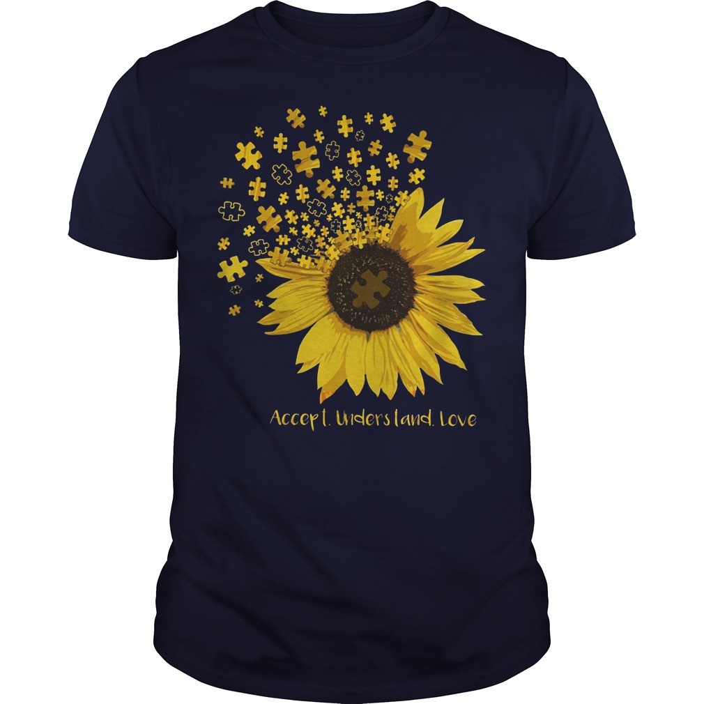Official Autism accept understand love sunflower shirt