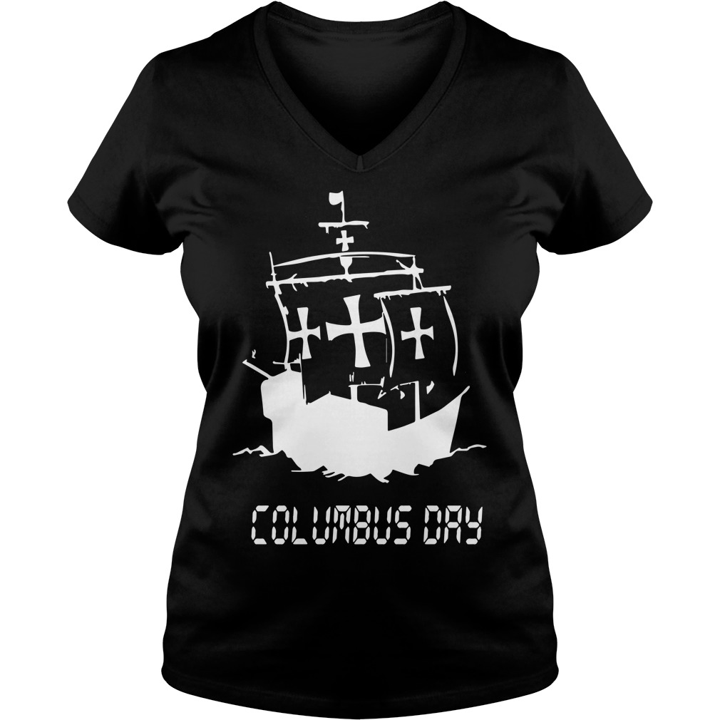 New Columbus Day Tee Ladies v neck