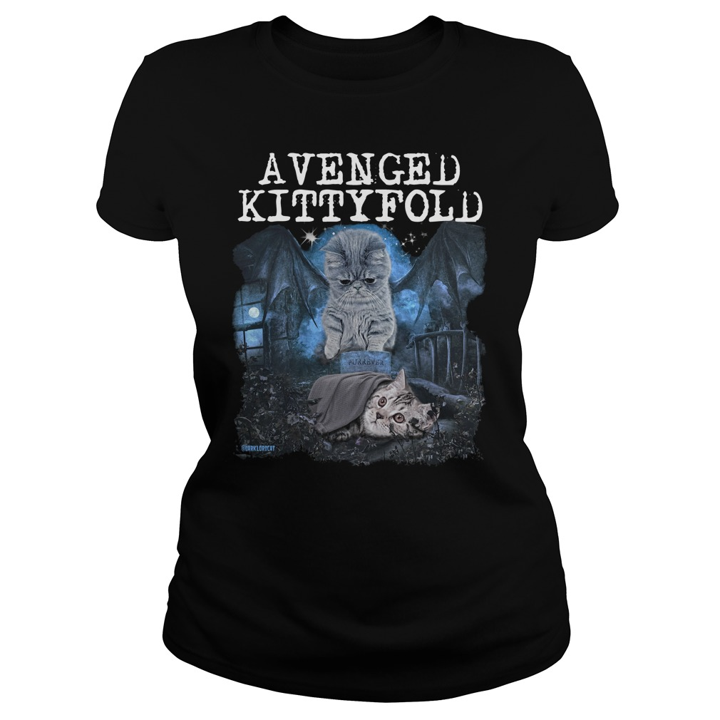 Official Avenged kitty fold ladies shirt