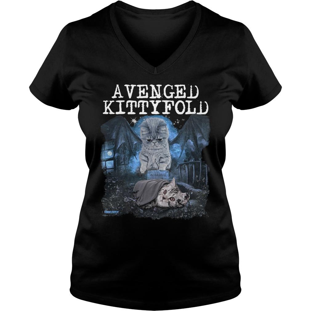 Official Avenged kitty fold ladies v neck
