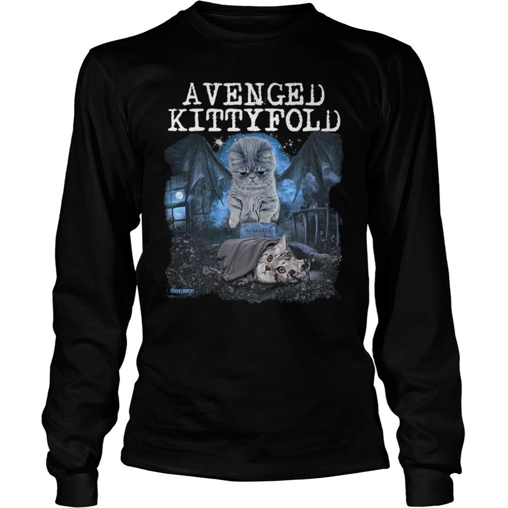 Official Avenged kitty fold longsleeve shirt