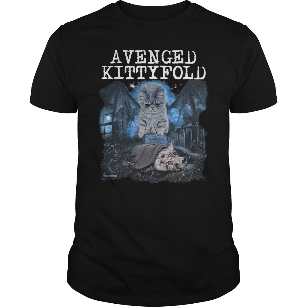 Official Avenged kitty fold guys shirt