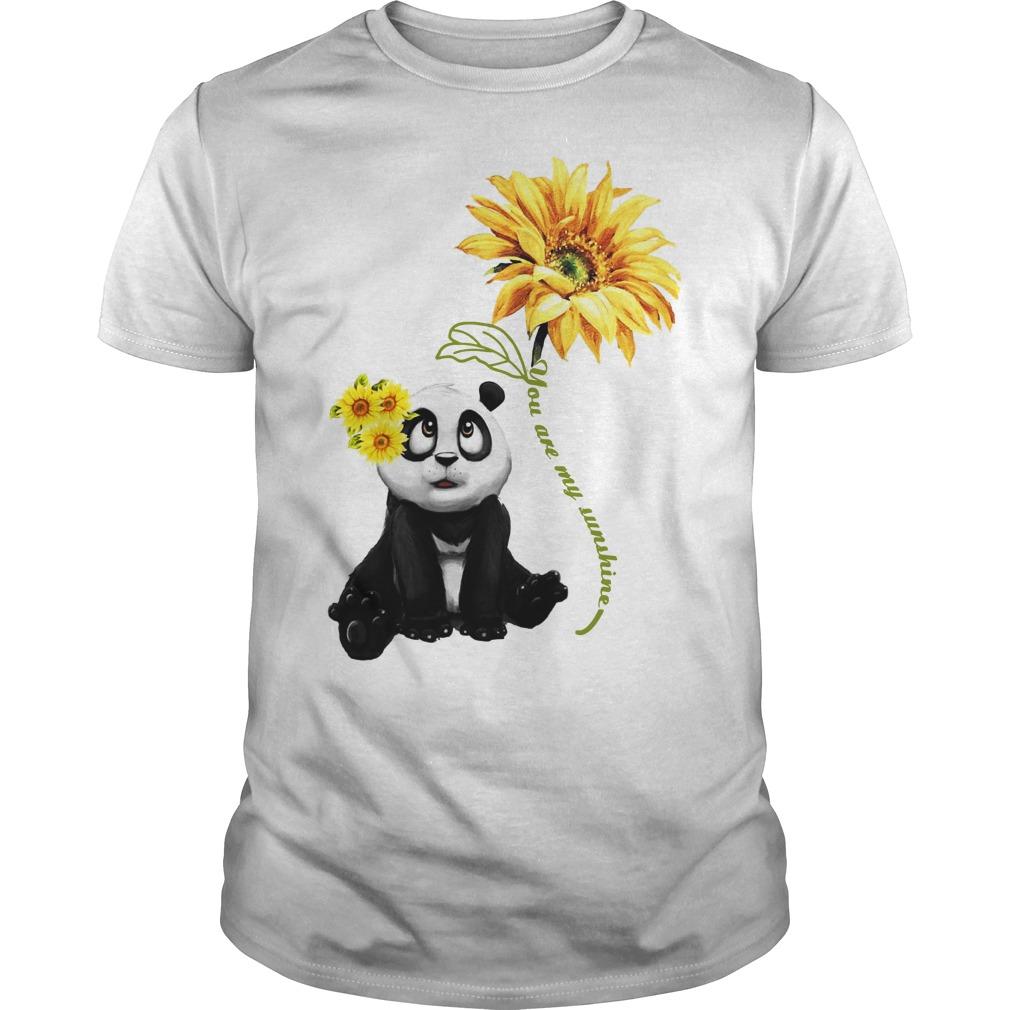 Panda You Are My Sunshine Guys Shirt