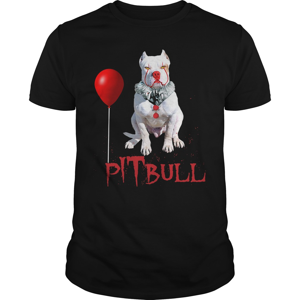 Pitbull Clown Halloween Guys Shirt