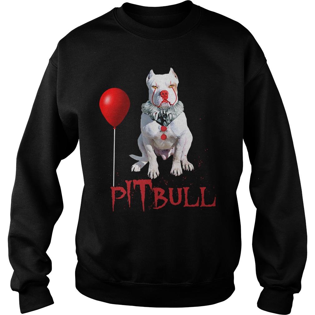 Pitbull Clown Halloween Sweatshirt