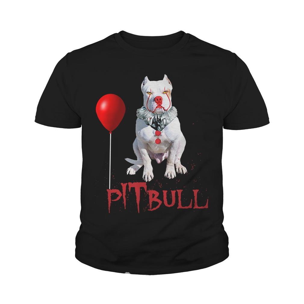 Pitbull Clown Halloween Youth Shirt