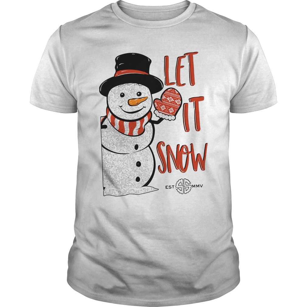 Simply Southern Let It Snow Guys Shirt