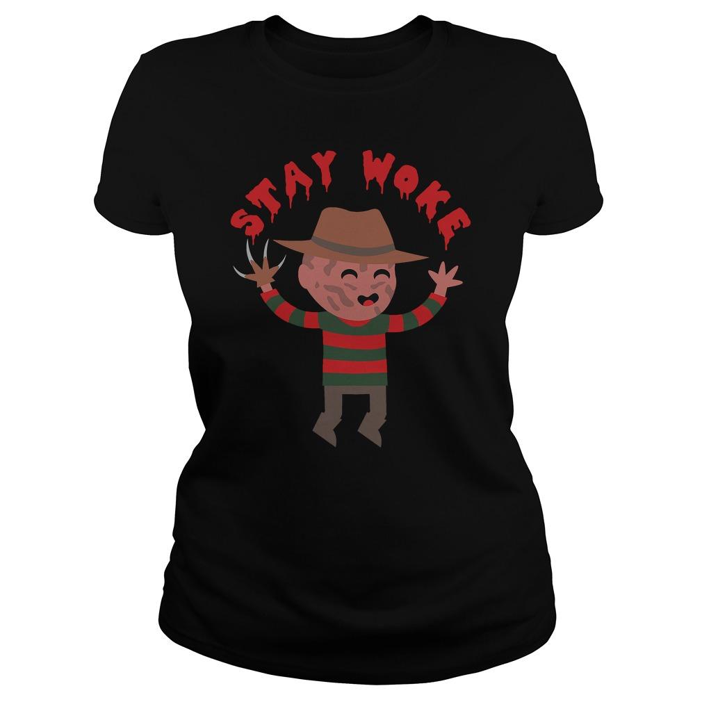 Stay Woke Halloween Ladies Shirt