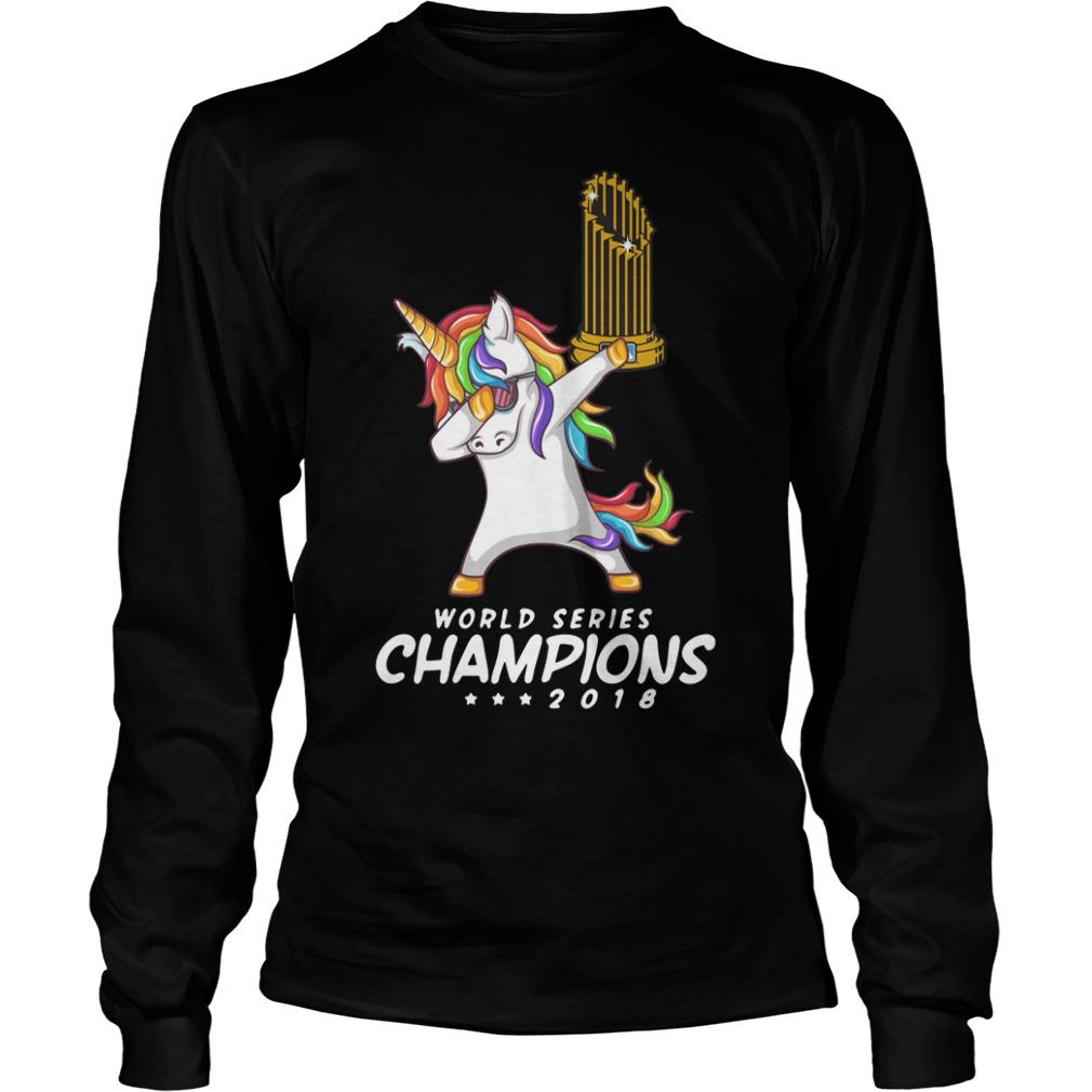 90e68c99 Unicorn Boston Red Sox World Series Champions 2018 Longsleeve Shirt
