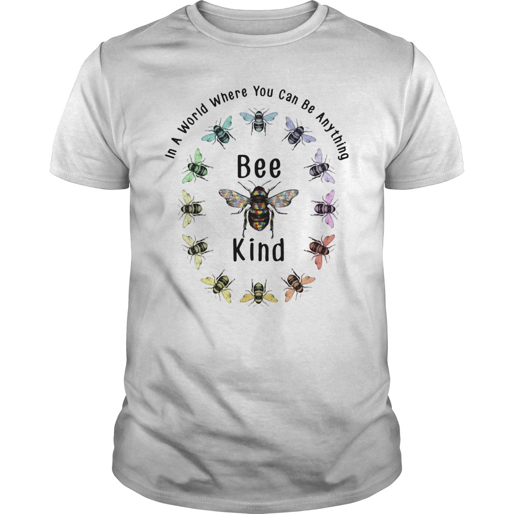 In A World Where You Can Be Anything Bee Kind Guys Shirt