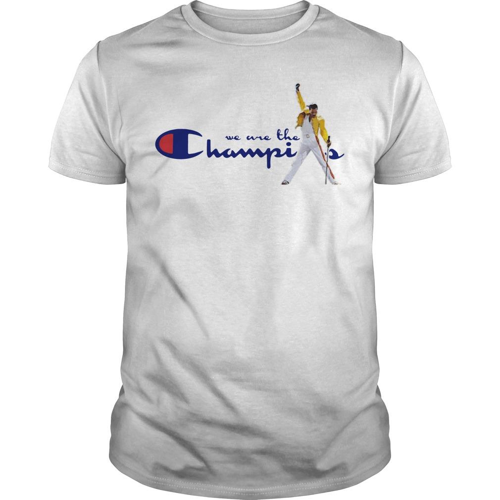 We are the Champions Freddie Mercury Guys Shirt