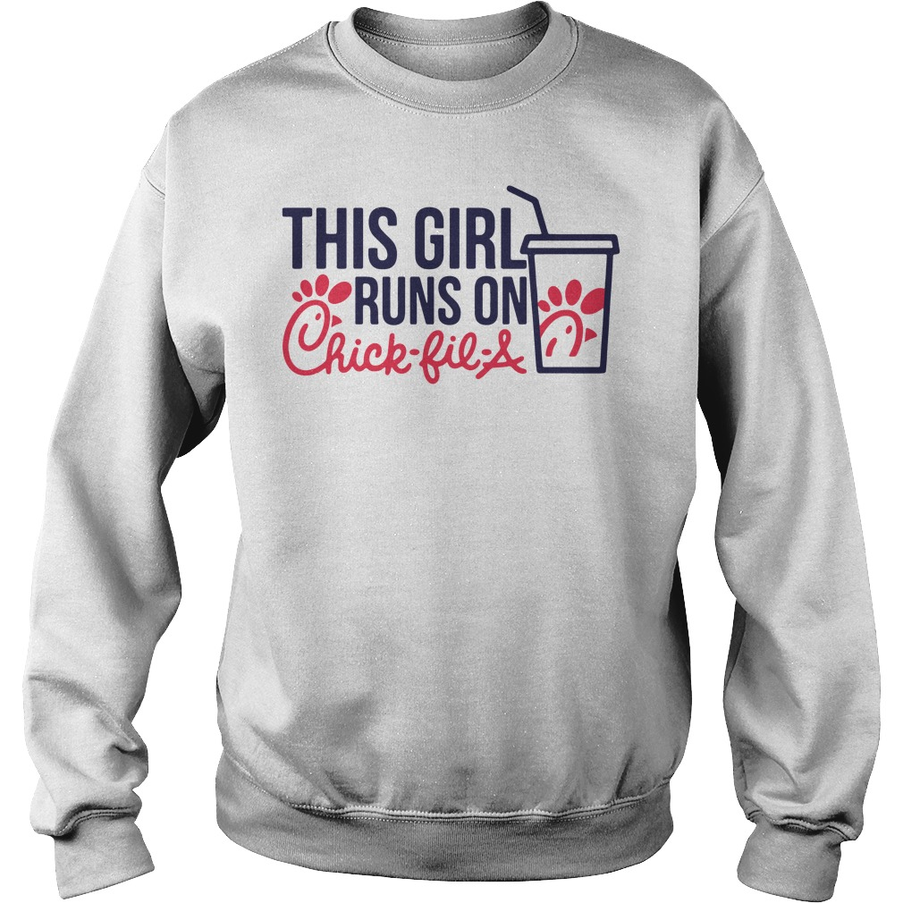 This Girl Runs on Chick Fil A Merch Tee Sweater