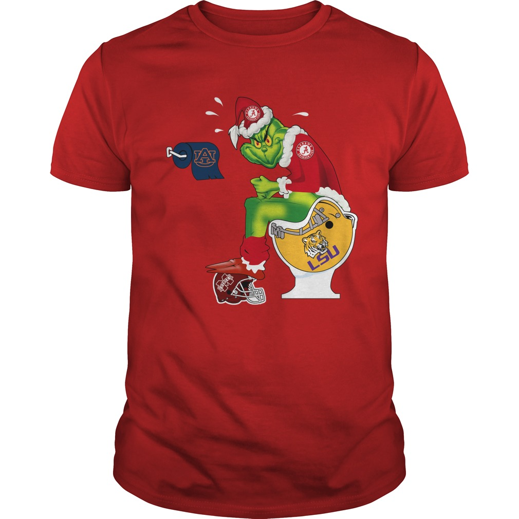 Official Alabama Grinch Santa Toilet shirt and hoodie