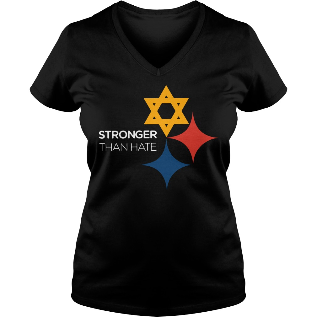 Pittsburgh Stronger Than Hate Ladies v neck
