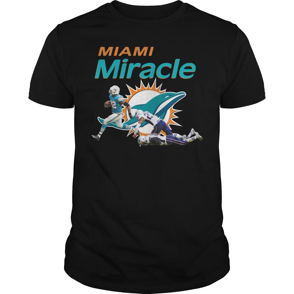 Dolphins Miami Miracle Kenyan Drake Beats The Patriots Guys Tee Shirt