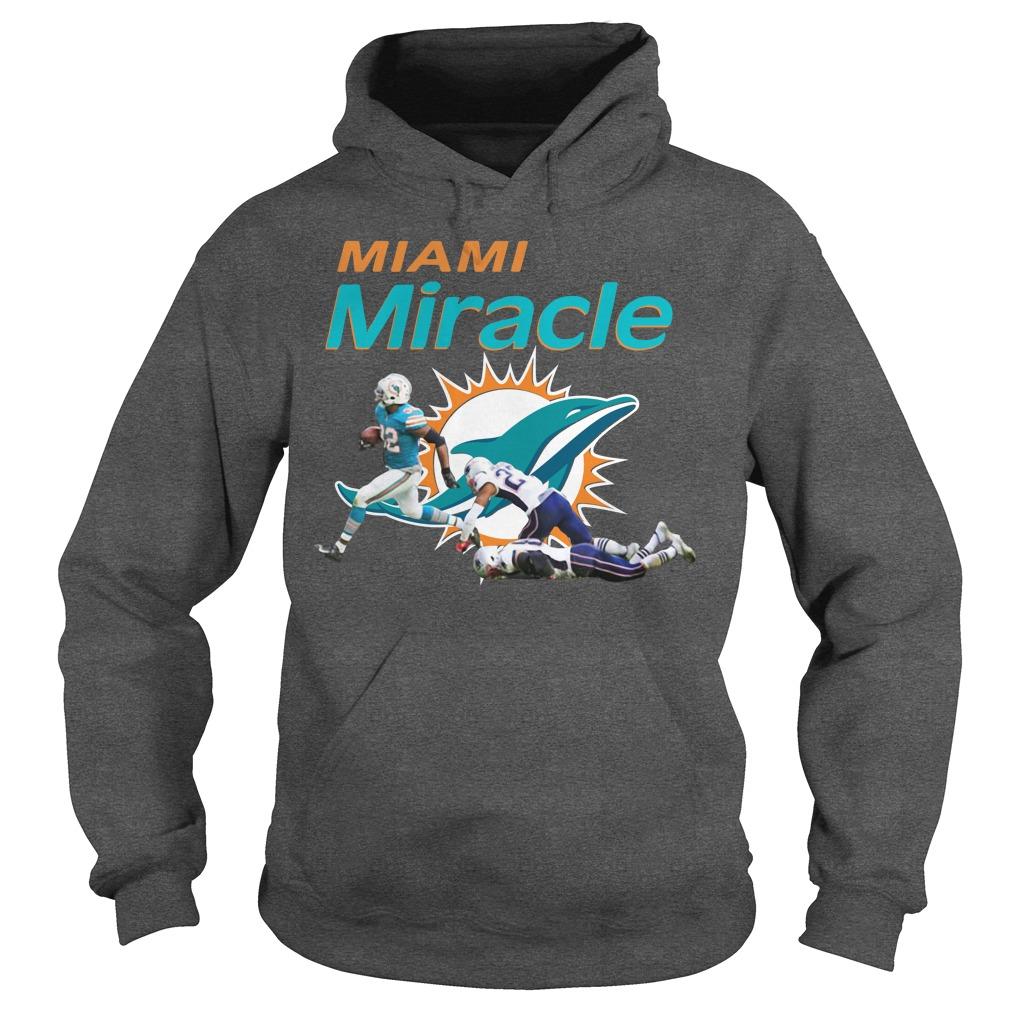 Dolphins Miami Miracle Kenyan Drake Beats The Patriots Hoodie