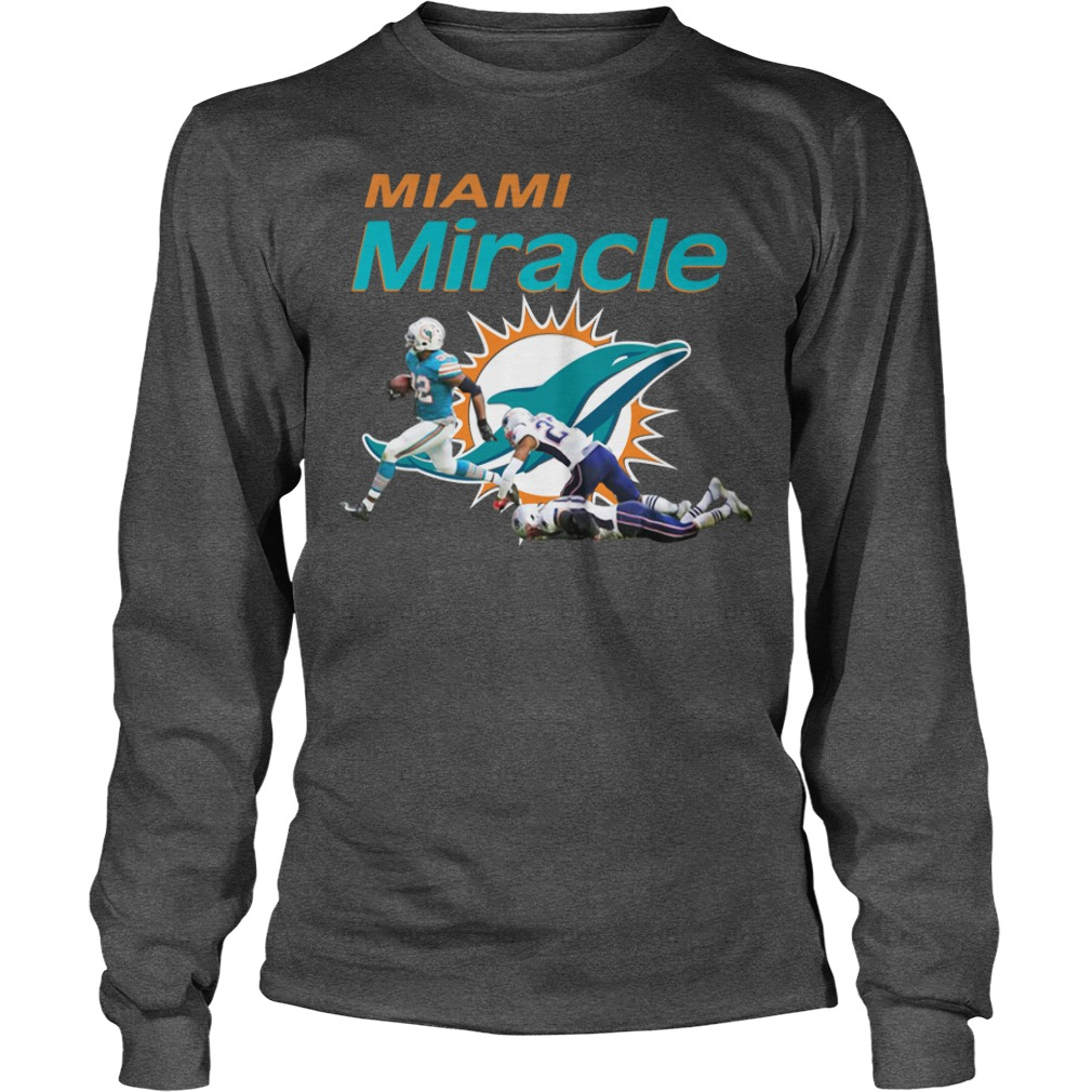 Dolphins Miami Miracle Kenyan Drake Beats The Patriots Longsleeve Shirt