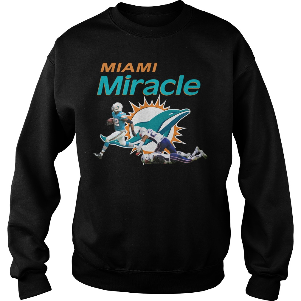 Dolphins Miami Miracle Kenyan Drake Beats The Patriots Sweater