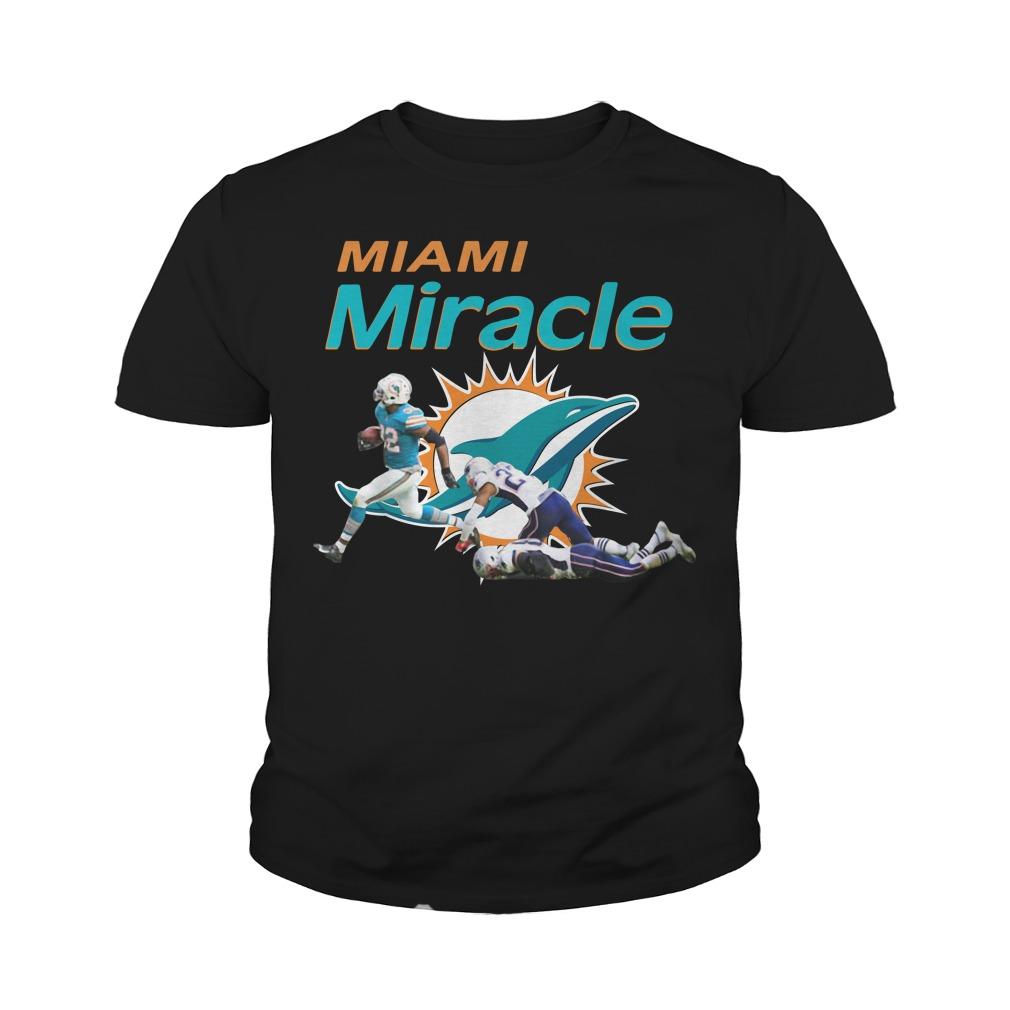 Dolphins Miami Miracle Kenyan Drake Beats The Patriots Youth Shirt