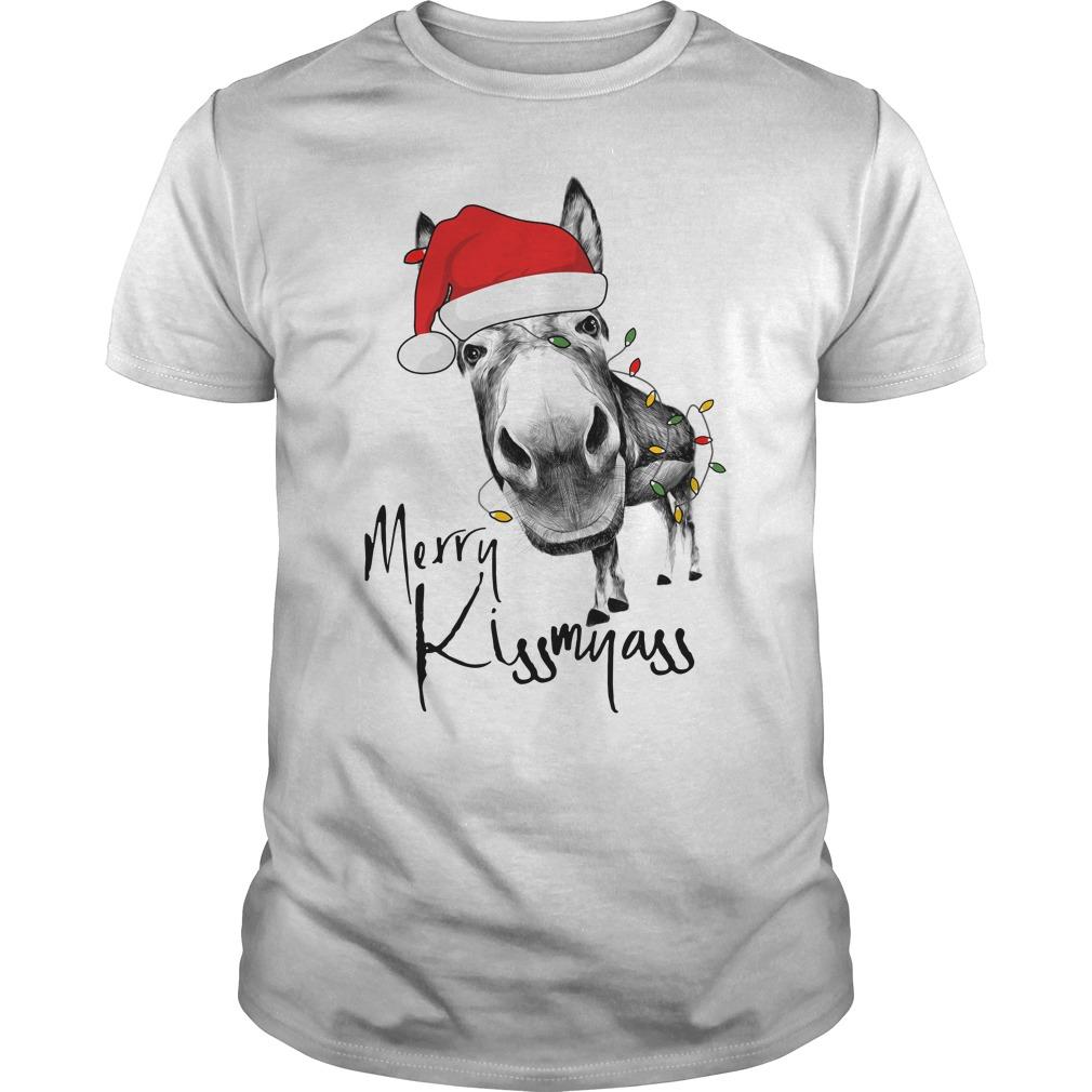 Donkey Merry Kiss My Ass Shirt
