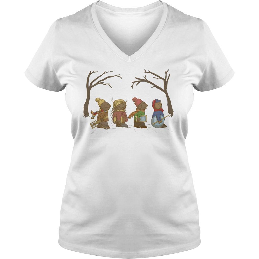 Jug Band Road Emmet Otter Ladies v neck