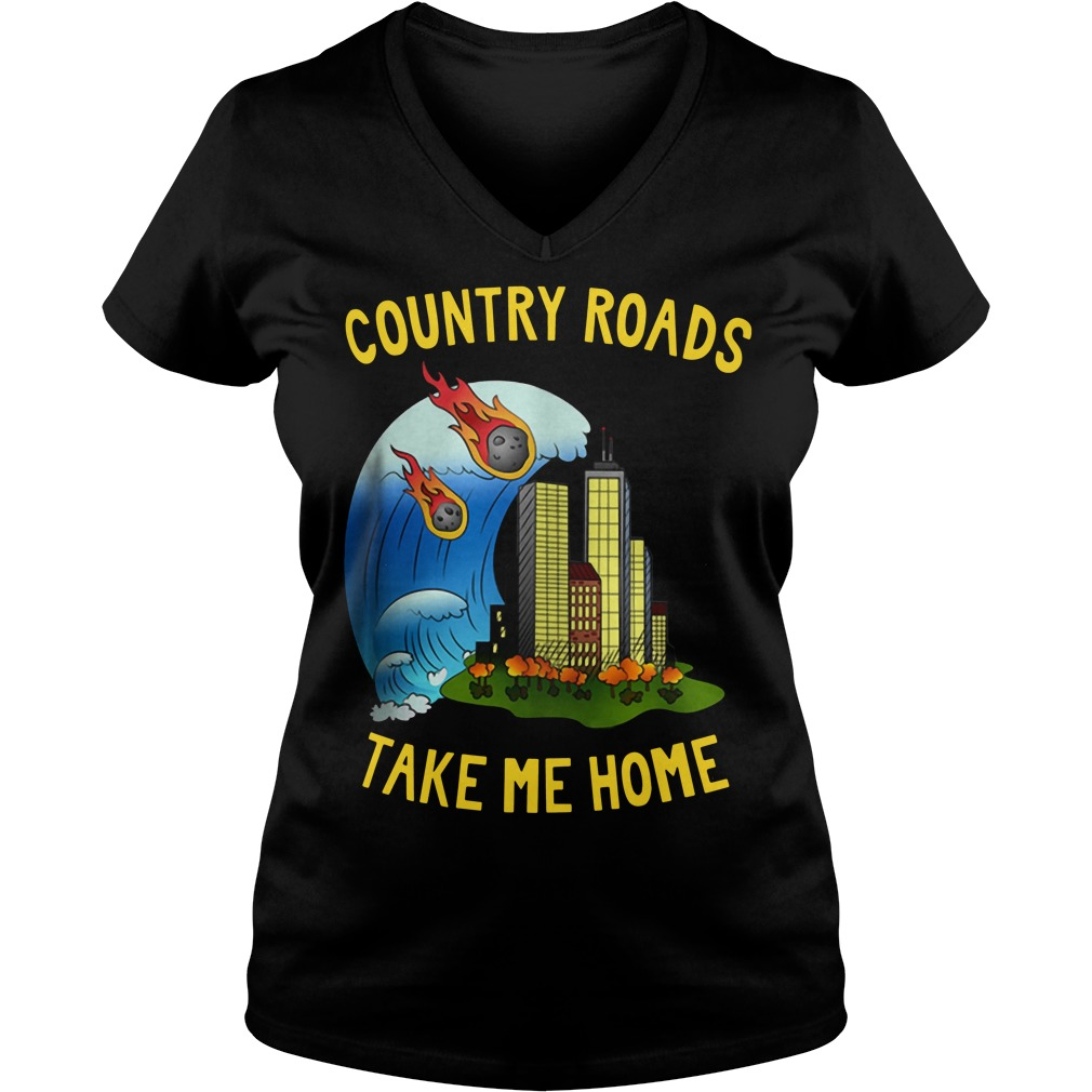 The Country Roads Take Me Home Ladies v neck