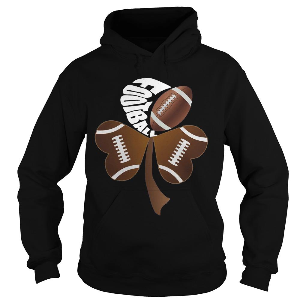 Football Shamrock Heart Hoodie