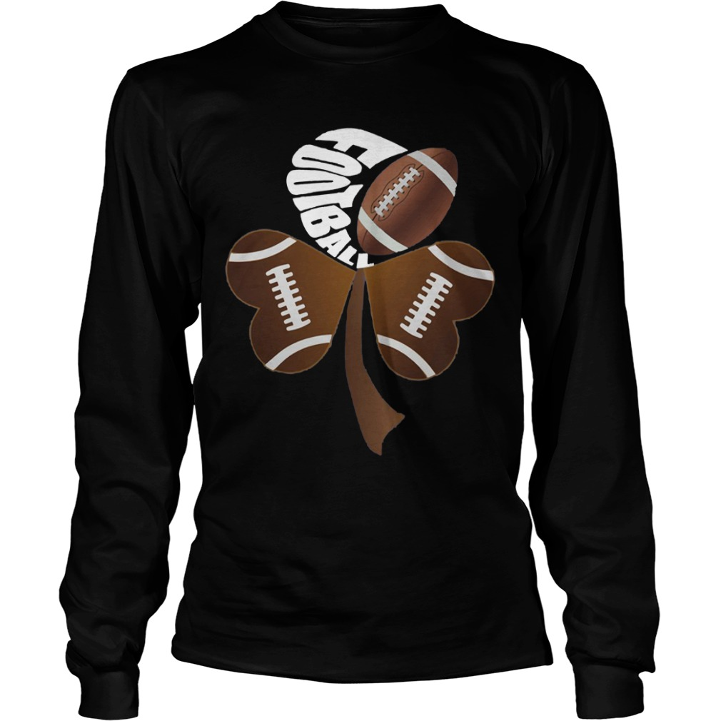 Football Shamrock Heart Longsleeve Shirt