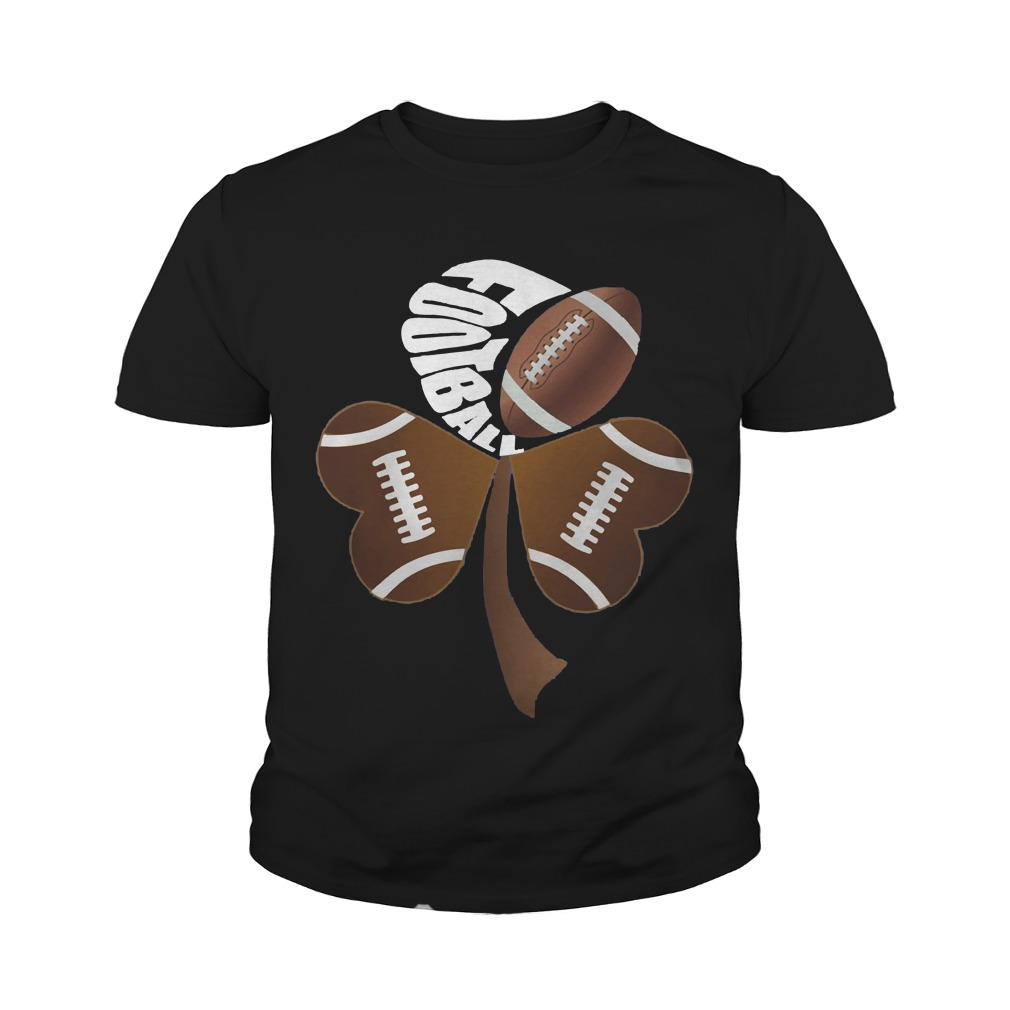 Football Shamrock Heart Youth Shirt